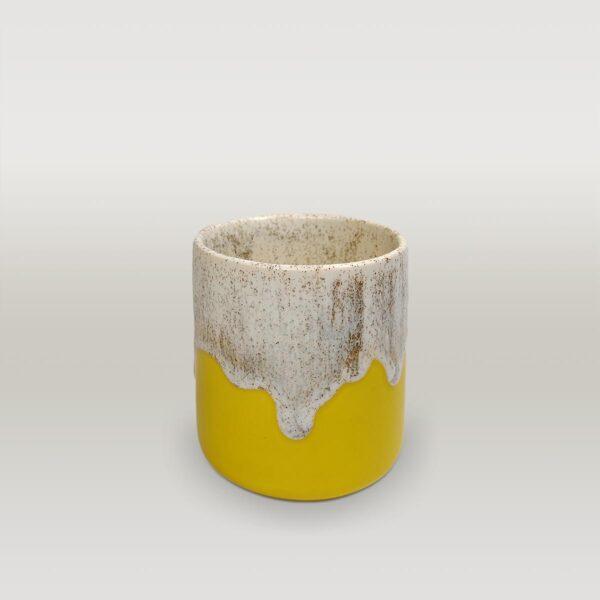 Molecule's Classic White Yellow Mug