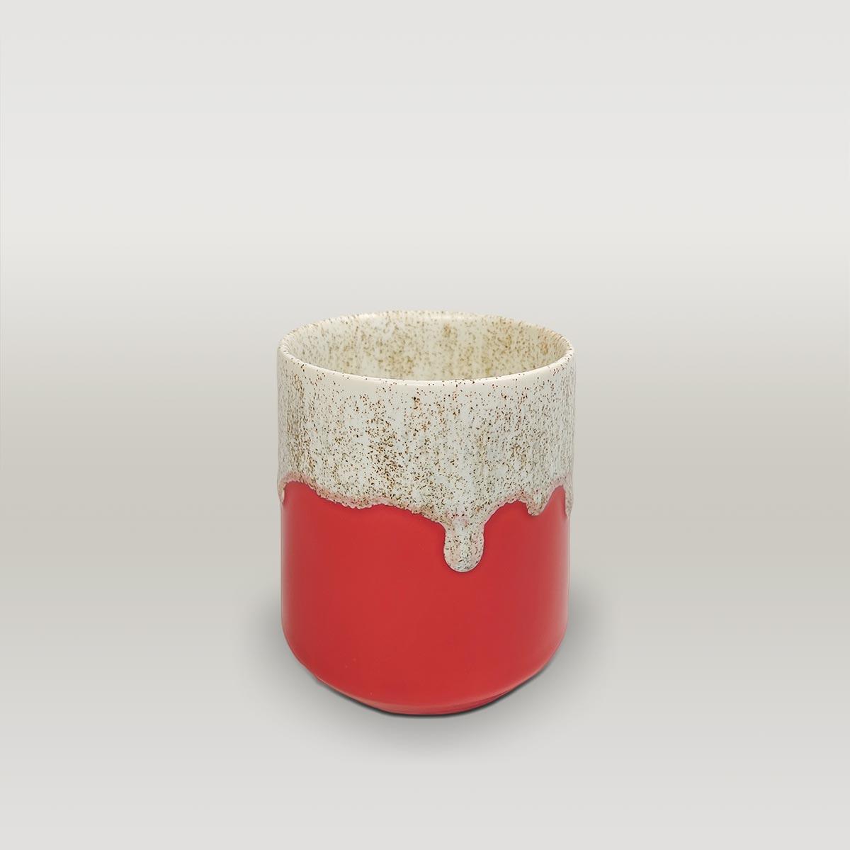 Molecule's Classic Red White Mug
